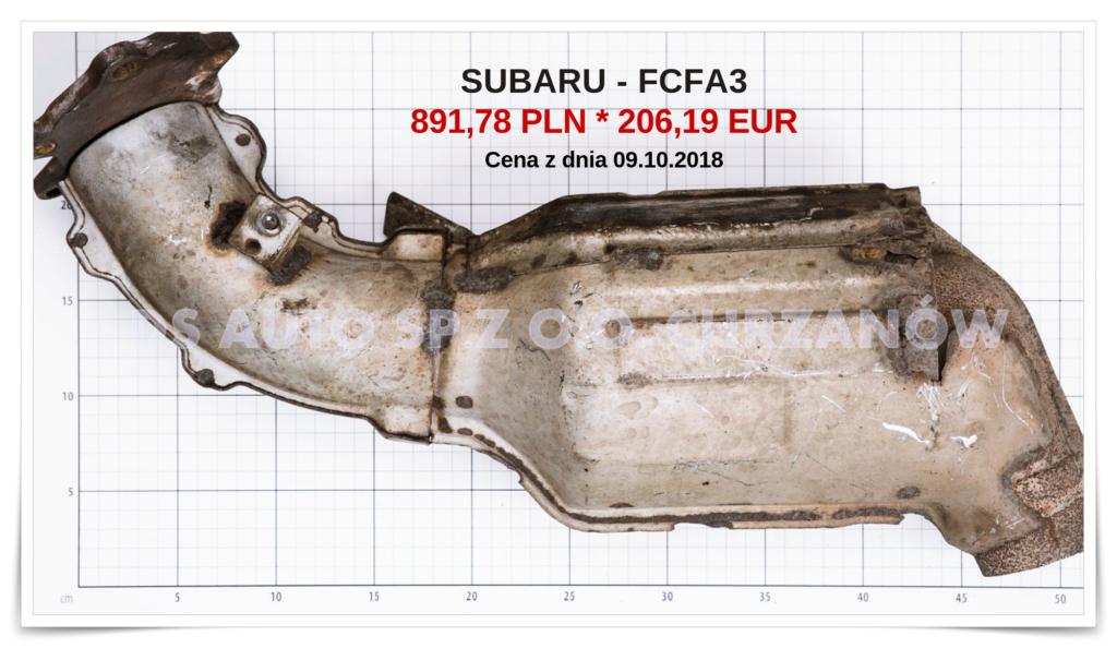 Katalizator z Subaru FCFA3