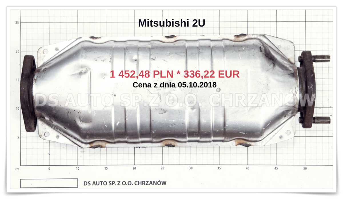 Katalizator Mitsubishi 2u Mitsubishi Carisma Katalizatory Chrzanow